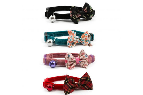 Ancol Safety Buckle Cat Collar Vintage Bow