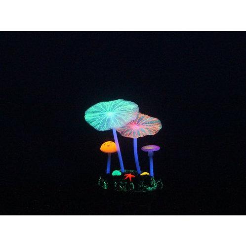 Aqua Lumo Multi-coloured Mushroom Lotus Plant