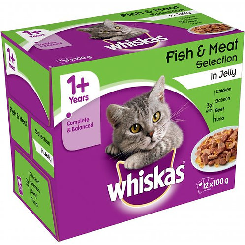 Whiskas Pouch Jelly Favourites 12 x 100g