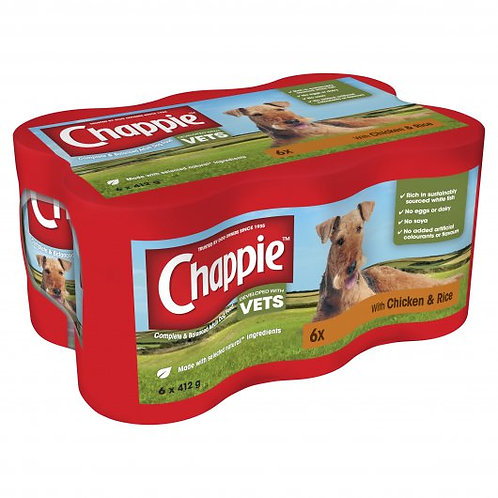Chappie Dog Cans Chicken & Rice 4x412g