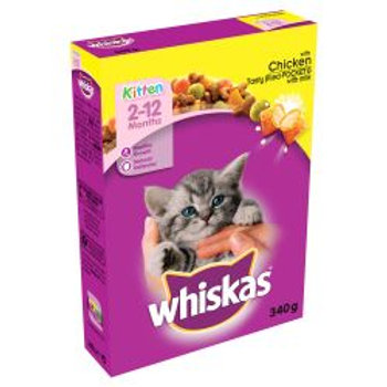 Whiskas Dry Kitten With Chicken 340g