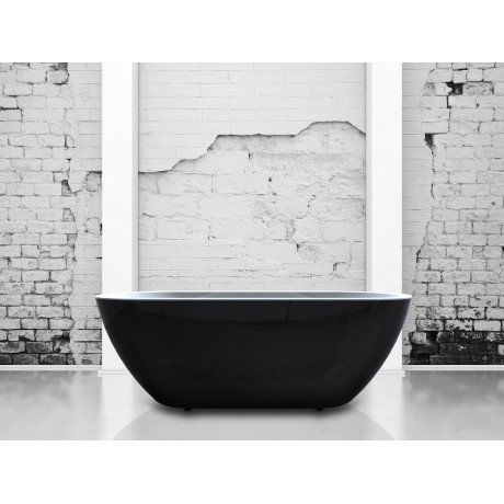 India Black 1500 Double Ended Freestanding Bath