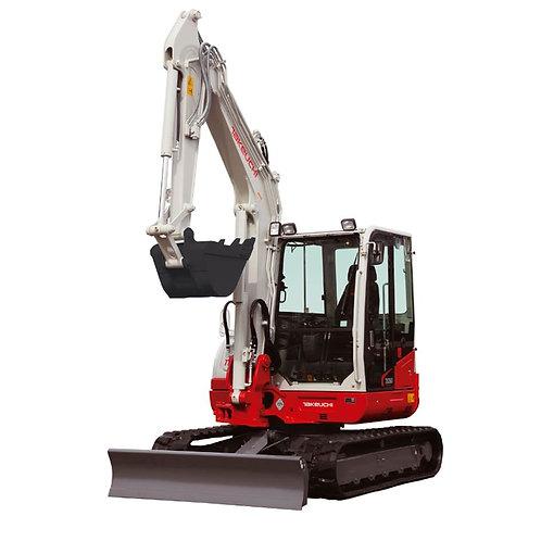 mini digger hire 6 ton