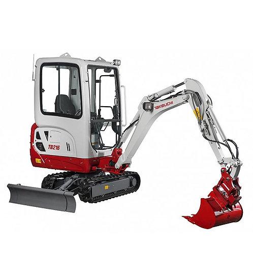 1.6 ton mini digger hire
