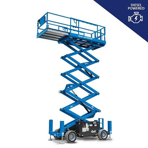 Diesel Powered Rough Terrain Scissor Lift Hire (40 ft)