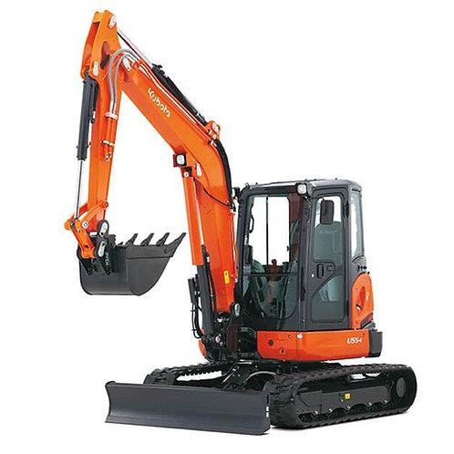 5.5 ton mini digger hire