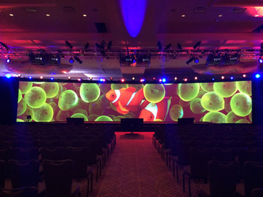 80' Widescreen Projection Pacific Staging Video Projection Mapping