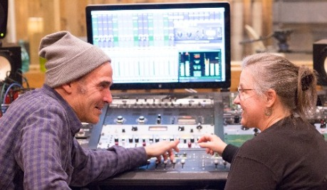 Tom & Meg in control room