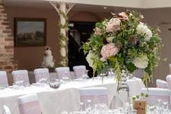 Top table at an Athelhampton Wedding