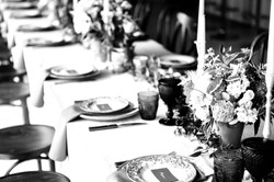 Black and White Rustic Table