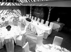 Black and White Wedding reception at Athelhampton