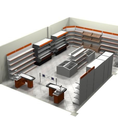 Проектирование торгового зала магазина
