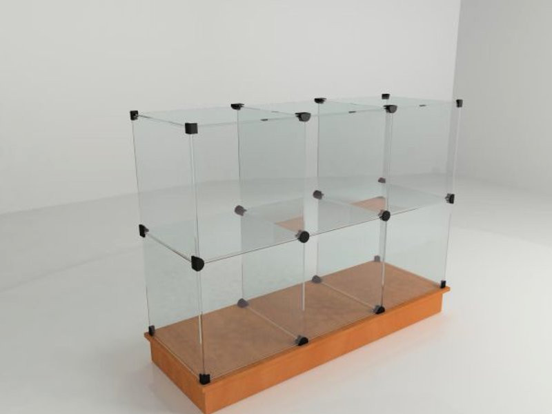 витрины стеклянные