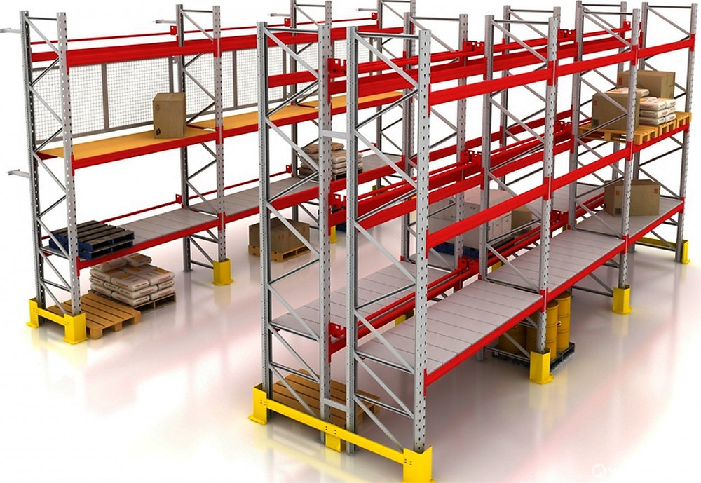 фронтальные стеллажи для склада