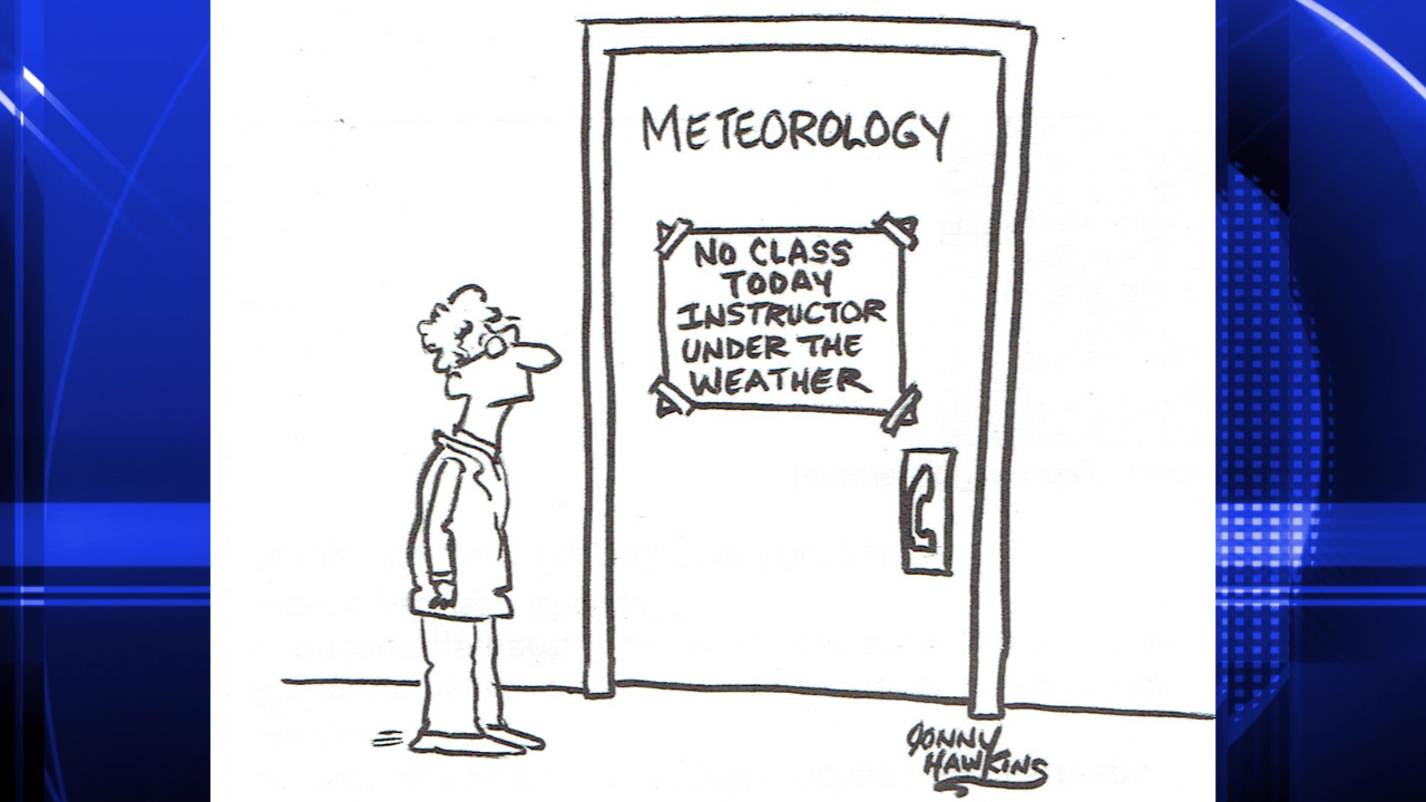 Meteorology Class Cancelled Cartoon