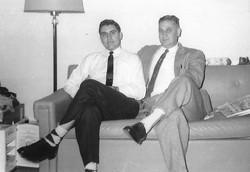 Pete jr & Pete Sr. showing off socks