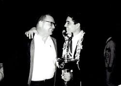 Pete Jr with his coach Hoss Halbert