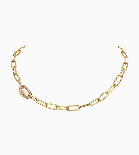 Diamond Buckle Chain Necklace