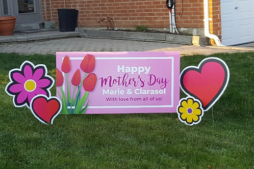 Mother's Day Lawn Sign Add-on