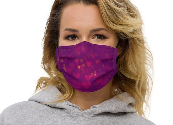 Heart print face mask