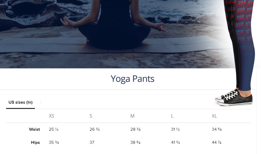 Yoga Pants Size Guide