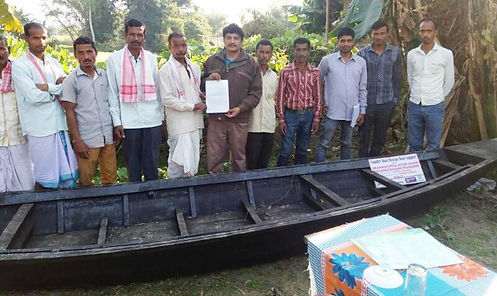 Boat Distribution to Baralakhaity Villag
