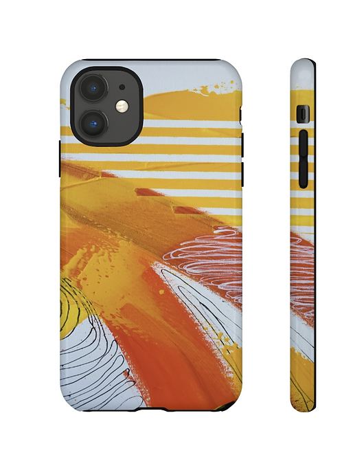 Yellow Cotton   iPhone Case