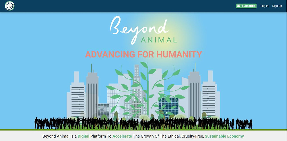 Beyond Animal's homepage