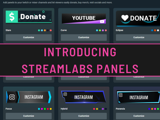 Introducing the newest Streamlabs Prime feature: Panels
