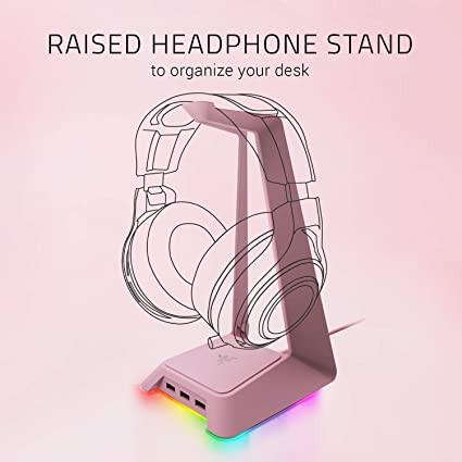 Razer headset in quartz pink for live streamer gamer girls
