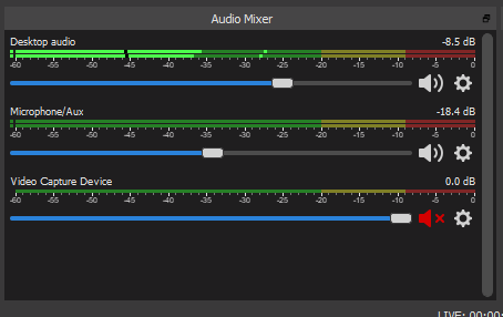 Audio Mixer in OBS