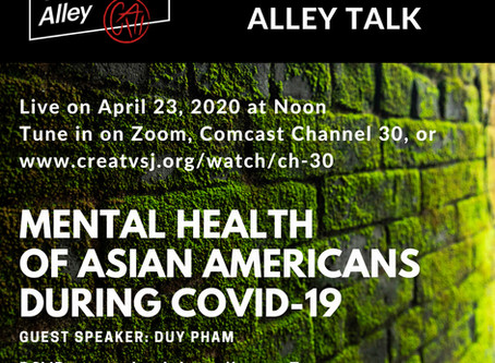 Chopsticks Alley Talk Live Episode 19: Mental Health of Asian Americans - Covid 19