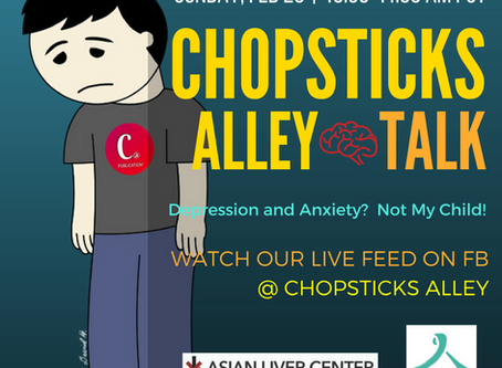 Chopsticks Alley Talk Live - Depression and Anxiety - February 26, 2017, Episode 12