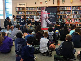 Trami Reading at Ingrid Lacey Middle School in Pacifica, CA January 2017