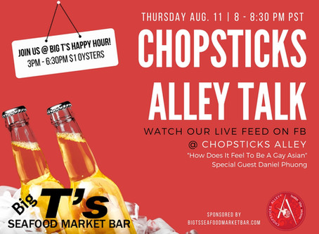 "Chopsticks Alley Talk Live Facebook Feed ""How Does It Feel to Be a Gay Asian"" - Episode 4"