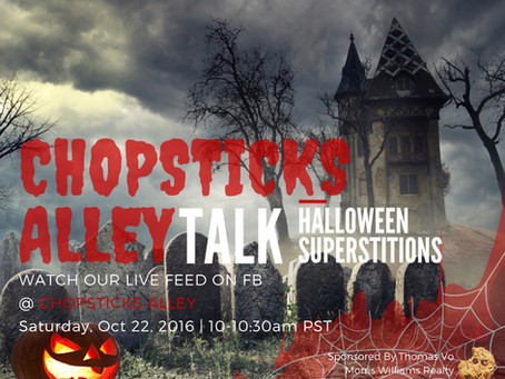 "Chopsticks Alley Talk Live Facebook Feed ""Superstition"" Episode 8"