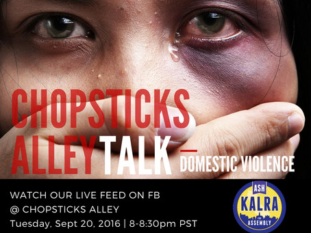 "Chopsticks Alley Talk Live Facebook Feed ""Domestic Violence"" Episode 7"