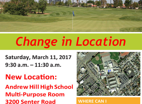 Los Lagos Golf Course in San Jose Community Meeting March 11, 2017 - Share Your Ideas