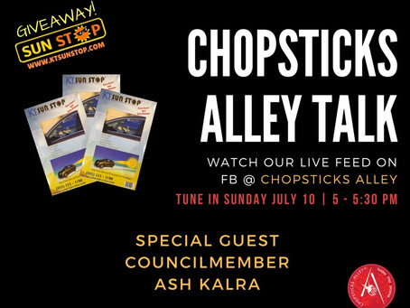 Chopsticks Alley Talk Live Facebook Feed July 10, 2016 - Episode 1