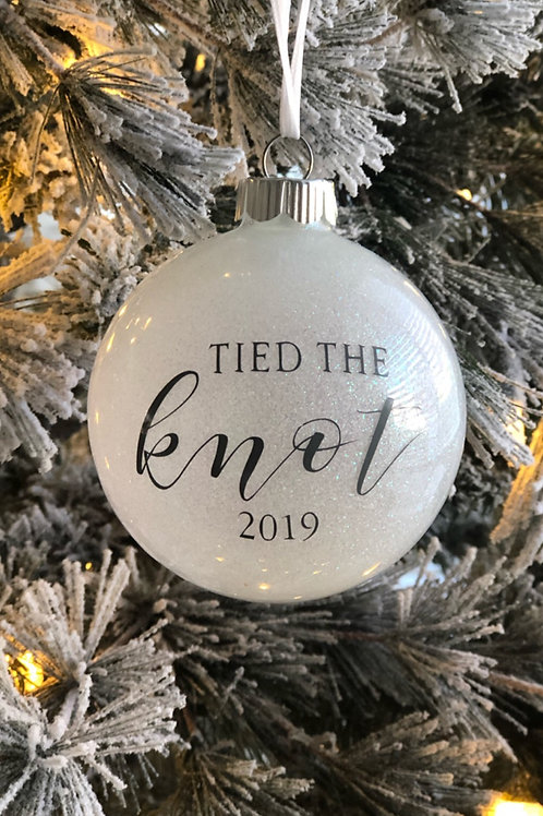 Tied the knot ornament
