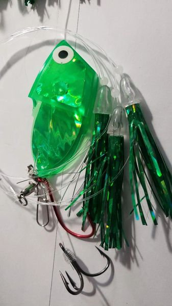 Green Leapfrog Glow Meat Rig