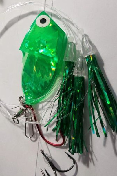 Green Leapfrog Glow Meat Rig