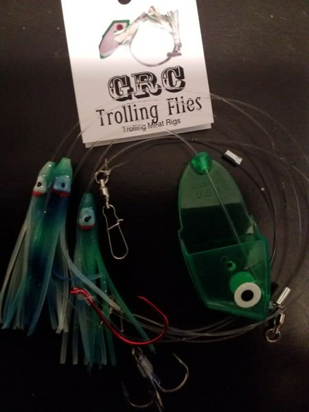 Blue Green Glow Squid Meat Rig