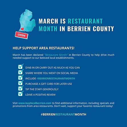 Berrien County Restaurant Month.
