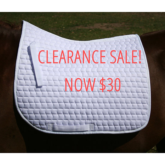 Dressage Pad - Classic White