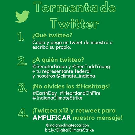 Spanish Twitter Storm Infographic (Insta
