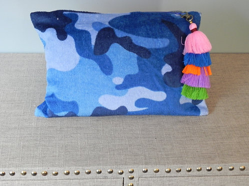 Blue Camouflage Clutch