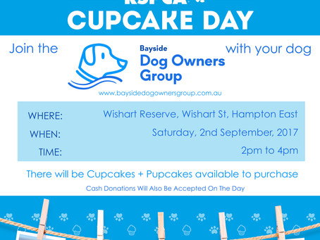 Bayside Dog Owners + RSPCA Cupcake Day