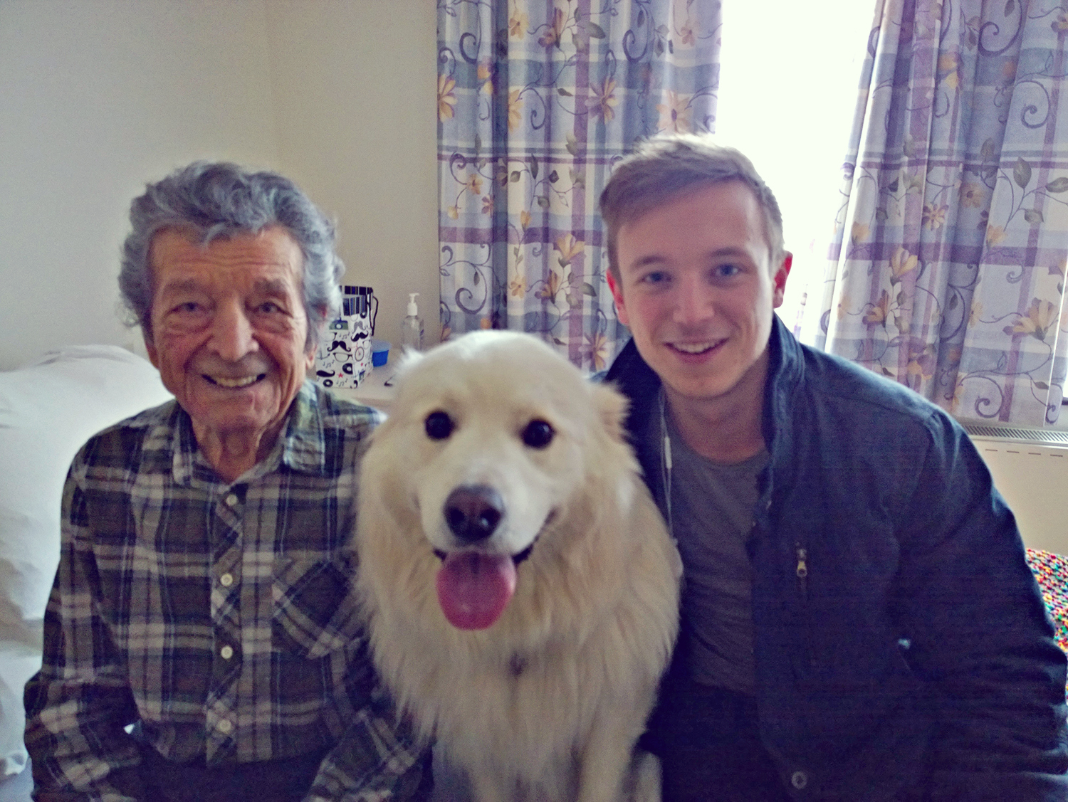 in the Aged Care facility with Finn and Sam