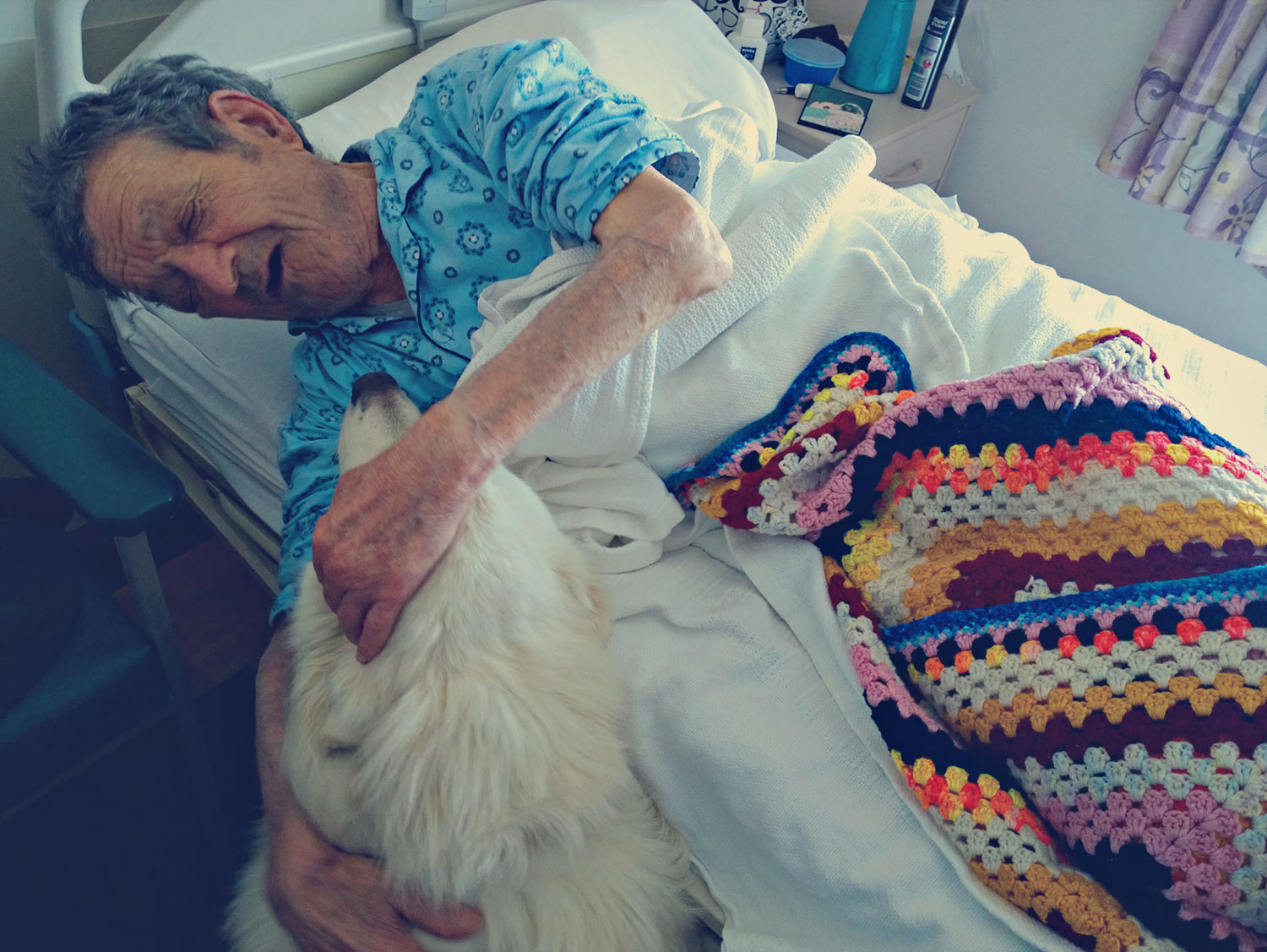 in the Aged Care facility, April 2015 with Finn
